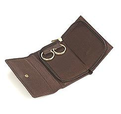 Snap And Zip Closure Key Case