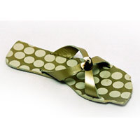 leather printed slippers