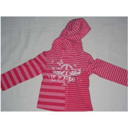 Striped Hooded T-Shirt