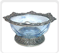 a dazzling tableware white metal bowl