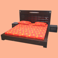 Double Bed - Wooden Double Bed, Darkwood Double Bed & Framed