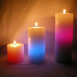 Colour Changing Pillar Candles