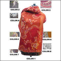 Woolen, Silk, Cashmere, Indian Women Shawls - Wholesale, Manufacturers