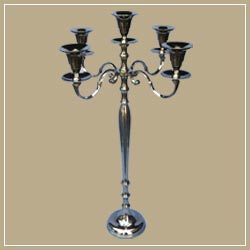 Brass Antique Finish Candle Stand