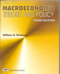 Macroeconomic Theory And Policies Book