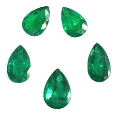 Pear Shape Emerald Pair