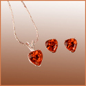 Heart Shaped Pendant Earring