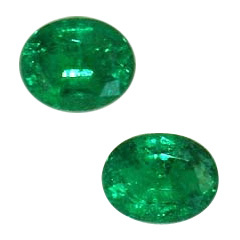 Oval Shape Emerald Pair