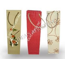 Assorted Wine Bags in Leather Textured Paper