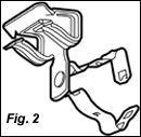 CADDY Flange Mount Conduit Clip - Snap Close (Conduit/Cable)