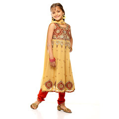 Embroidered Cotton Anarkali Suit