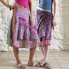 Free Crochet Pattern 30119-C-skirt Long Jeans Skirt