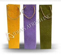 Assorted Wine Bags in Moonrock Paper