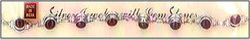 Garnet Studded Silver Bracelets