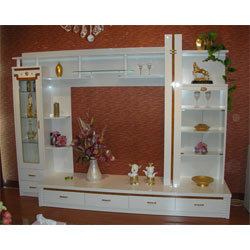 Wooden Cornered Wall Unit