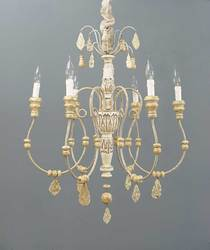 Wood iron chandelier - TheFind