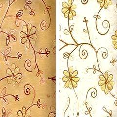 Embroidered Handmade Paper