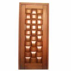 Square & Round Wooden Panel Door