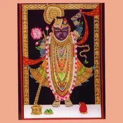 Tanjore Painting- Shri Nath Ji