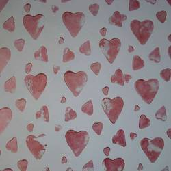 Hearts Texture Painting