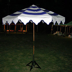 Garden Umbrella With Wood Frame