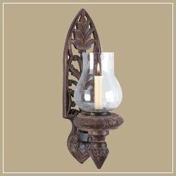 Wooden Wall Candle Stand