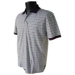 Mens Striped Polo T Shirt