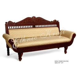 king design three seater sofa