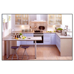 Single Line Modular Kitchen, L-line Modular Kitchen & Parallel