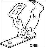 CADDY Nail Bracket - CNB series (Conduit/Cable)
