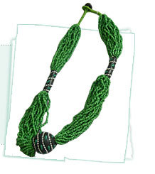 Antique Green Bead Necklaces