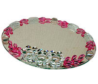 Round Glass Tray