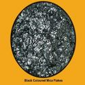 Black Mica Flakes