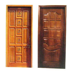 Multiple Wooden Panel Door