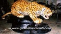Leopard On Stone - Leather Handicraft
