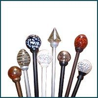 curtain decorative finials glass rod | blind curtain making