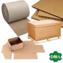plain corrugated packaging material