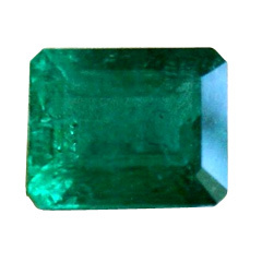 Octagonal Shape Single Emerald Stone