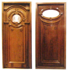Wooden Carved Doors With Glass
