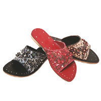 designer embroidered slippers