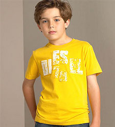 Yellow Round Necked T-shirt