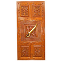 Carved Entrance Door