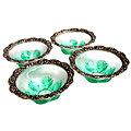 fantastic collection white metal trays bowls
