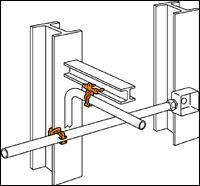 CADDY Flange Mount Conduit Clip - Push-In (Conduit/Cable)