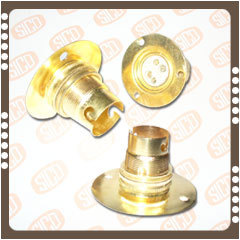 Brass Batten (Base Plate) Lamp Holders( B-22 )