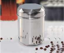 Stainless Steel Kitchen Canister Heptagon Lid Canister