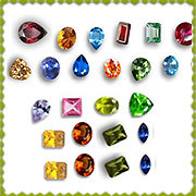 Cubic Zirconia Multicolored Gemstones