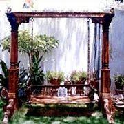Wooden swings in ahmedabad gujarat india indiamart for Garden jhoola designs