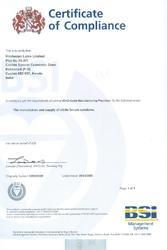 Kakkanad Factory GMP Certificate