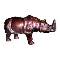 Stuffed Leather Rhino